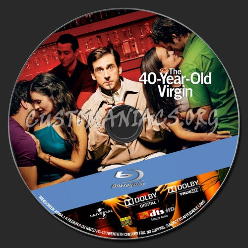 The 40 Year Old Virgin blu-ray label