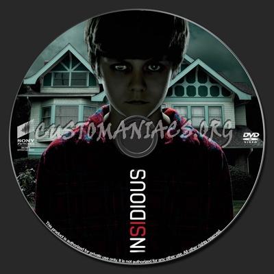Insidious dvd label