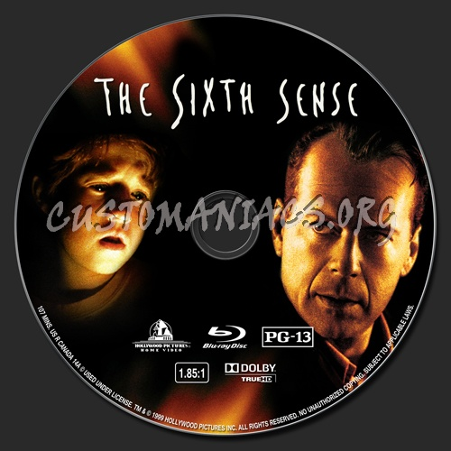 The Sixth Sense blu-ray label