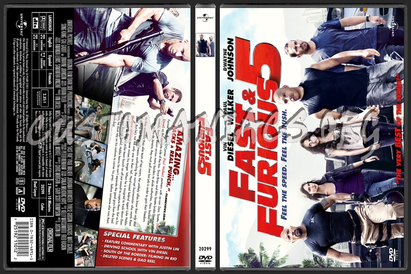 Fast & Furious 5 (aka Fast Five) dvd cover