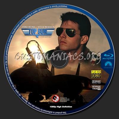 Top Gun blu-ray label