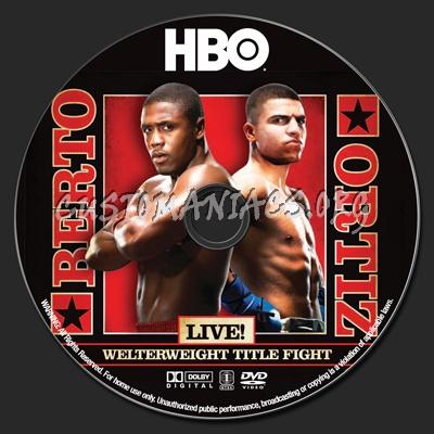 Andre Berto vs Victor Ortiz dvd label