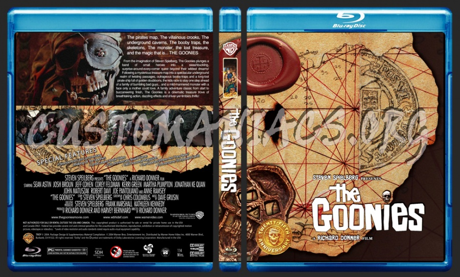 The Goonies blu-ray cover