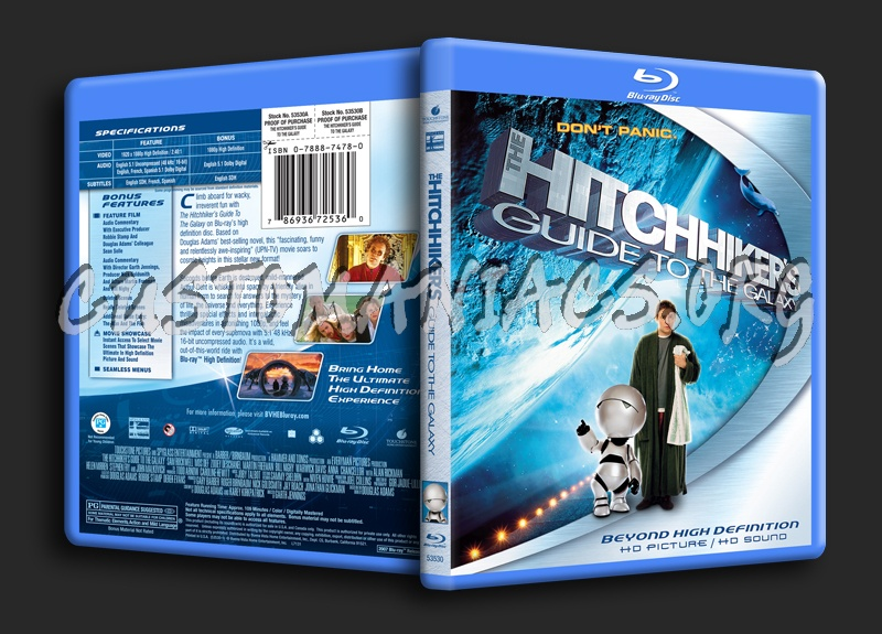 The Hitchhiker's Guide to the Galaxy blu-ray cover