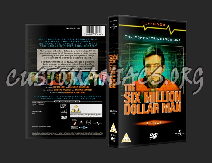 The Six Million Dollar Man Series One dvd cover