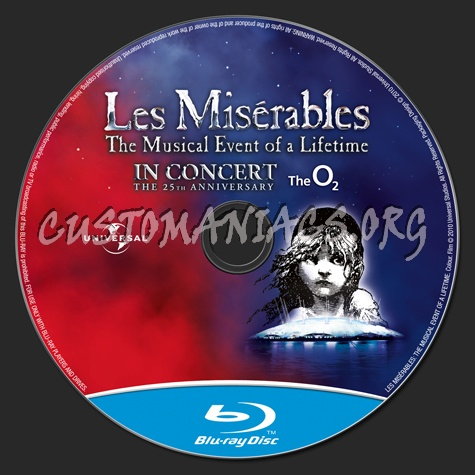 Les Miserables blu-ray label