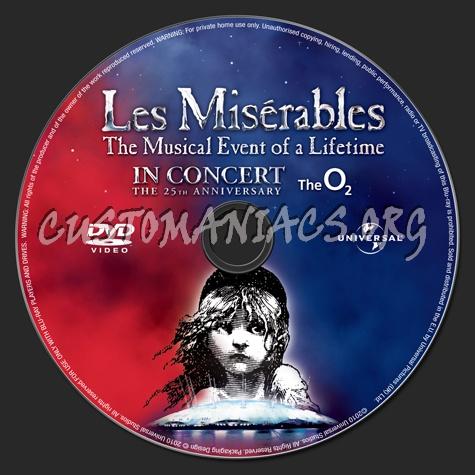 Les Miserables dvd label