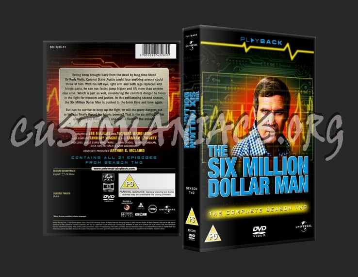The Six Million Dollar Man Series Two dvd cover