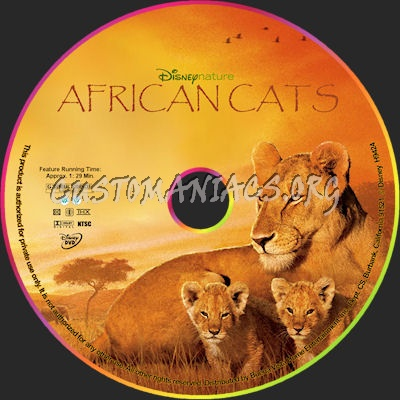 African Cats dvd label