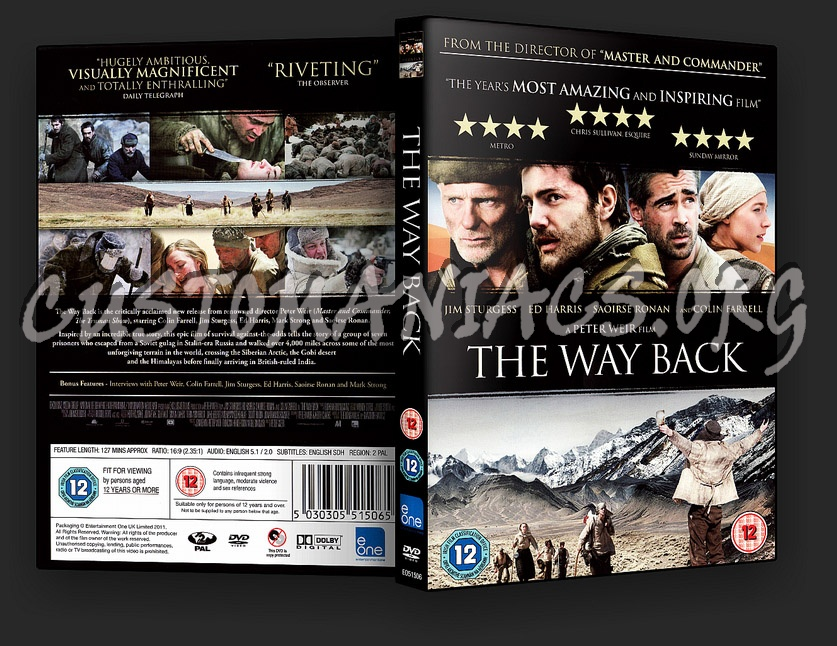 The Way Back dvd cover