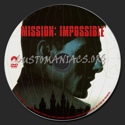 Mission Impossible dvd label