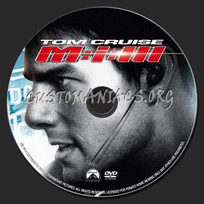 Mission Impossible 3 dvd label