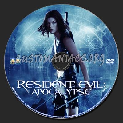 Resident Evil Apocalypse dvd label
