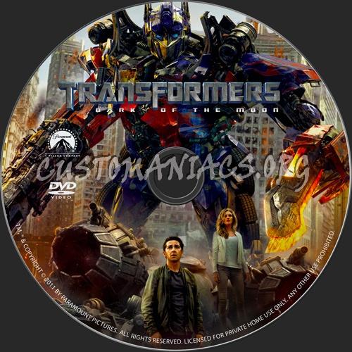 Transformers:Dark of the Moon dvd label