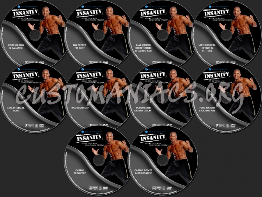 Insanity Extreme Home Workout dvd label