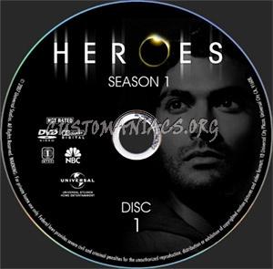 Heroes - Season 1 dvd label