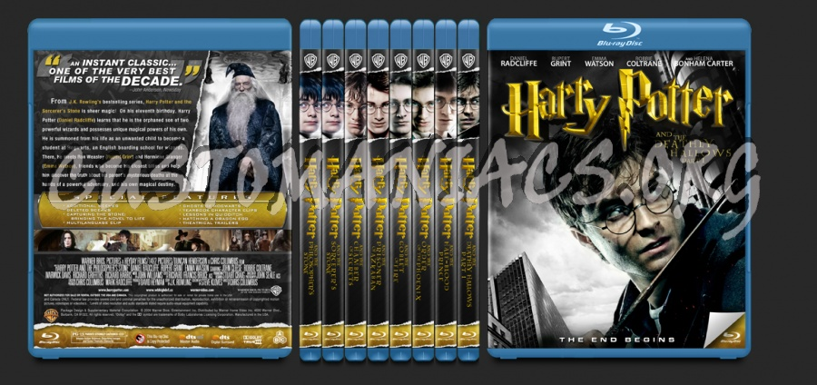 The Harry Potter Collection blu-ray cover