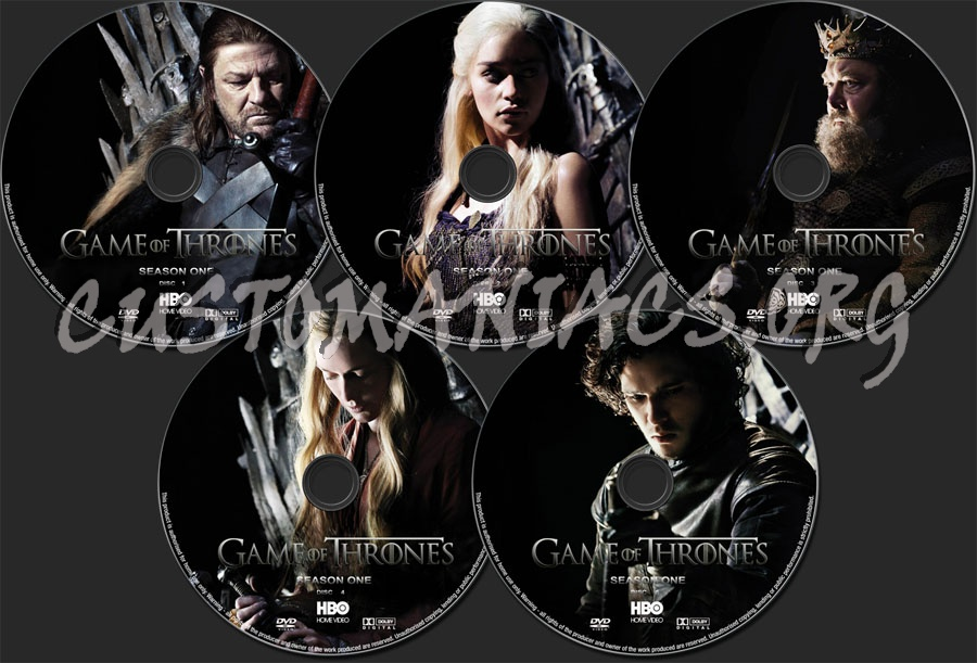 Game of thrones season 1 dvd label