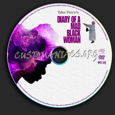 Diary Of A Mad Black Woman dvd label