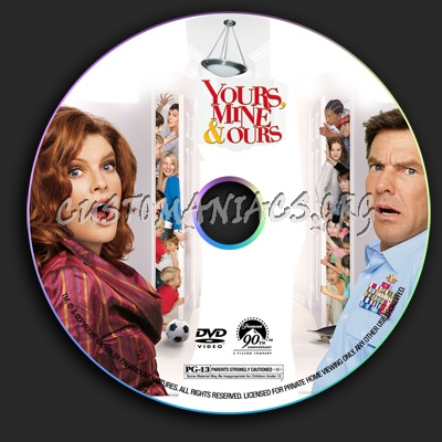 Yours, Mine & Yours dvd label