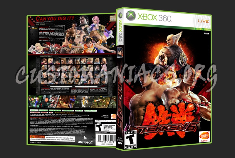 Tekken 6 Dvd Cover Dvd Covers Labels By Customaniacs Id