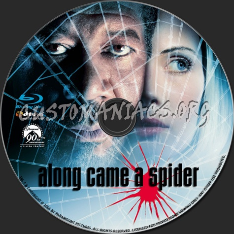 Along Came a Spider blu-ray label