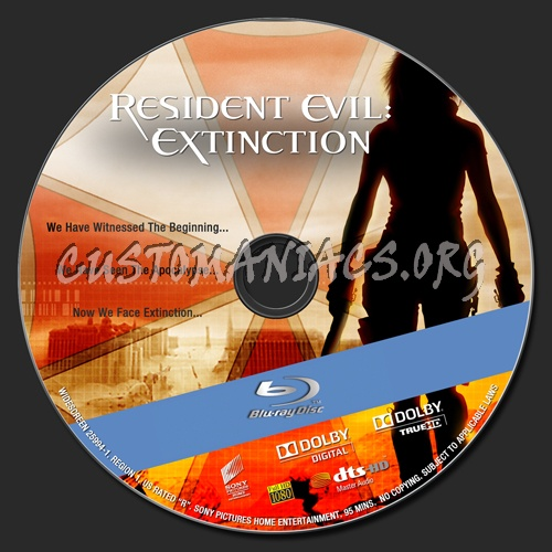 Resident Evil : Extinction blu-ray label