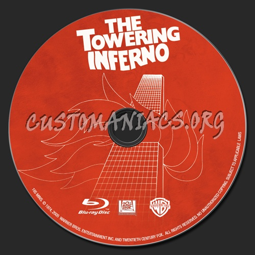 The Towering Inferno blu-ray label