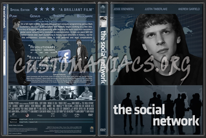 The Social Network dvd cover - DVD Covers & Labels by ...