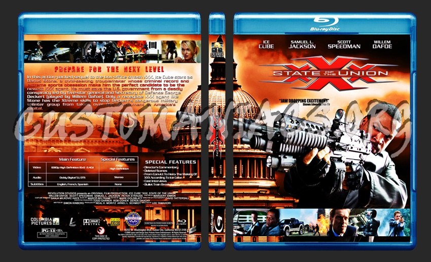XXX: State Of The Union blu-ray cover