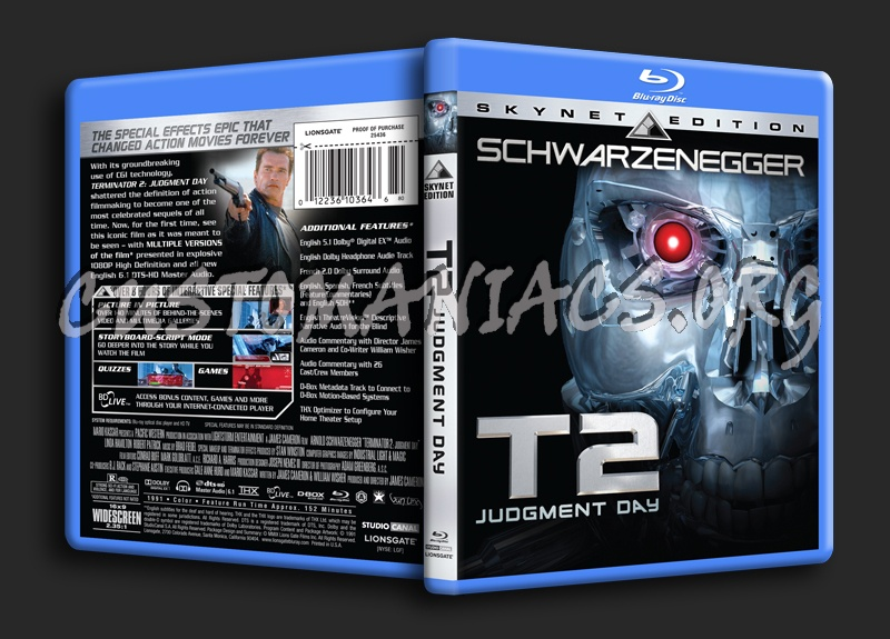 Terminator 2: Judgment Day blu-ray cover