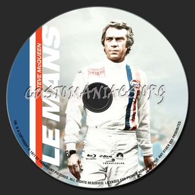 Le Mans blu-ray label