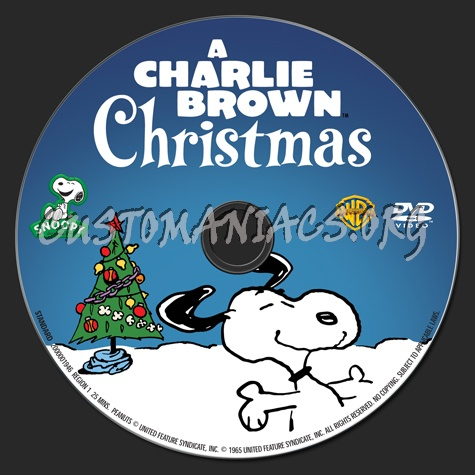 A Charlie Brown Christmas dvd label