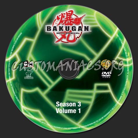 Bakugan Battle Brawers Season 3 Volume 1 dvd label
