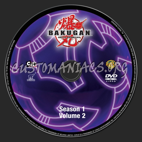 Bakugan Battle Brawlers Season 1 Volume 2 dvd label