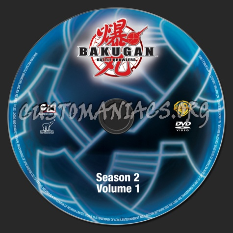 Bakugan Battle Brawlers Season 2 Volume 1 dvd label