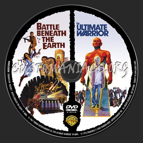 Battle Beneath the Earth / The Ultimate Warrior dvd label