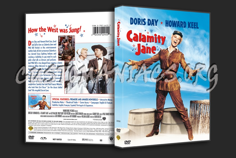 Calamity Jane dvd cover