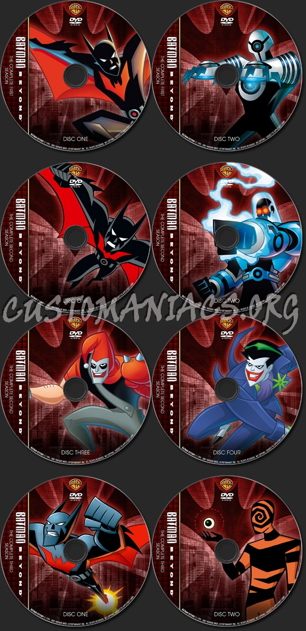 Batman Beyond - TV Collection dvd label