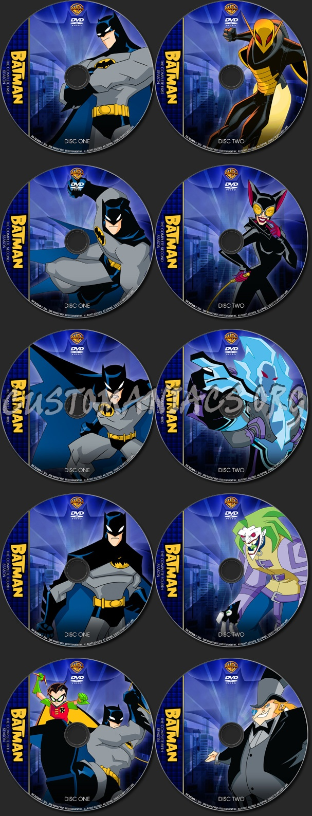 The Batman - TV Collection dvd label