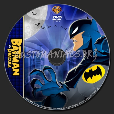 The Batman vs Dracula - TV Collection dvd label