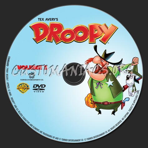 Droopy Volume 2 dvd label