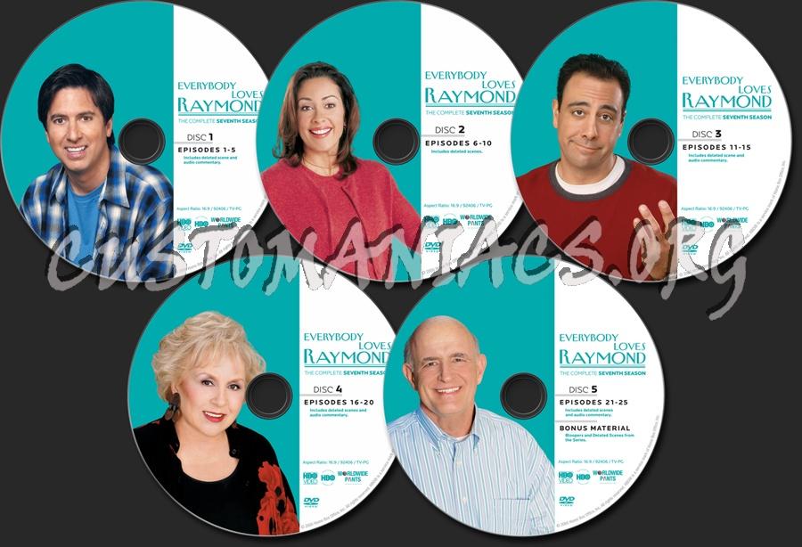 Everybody Loves Raymond Season 7 dvd label