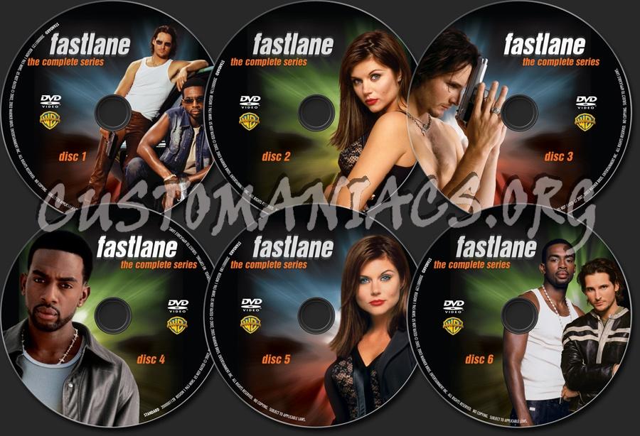 Fastlane The Complete Series dvd label
