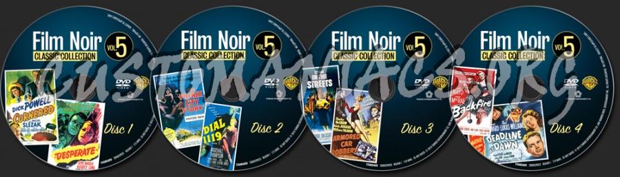Film Noir Collection Volume 5 dvd label