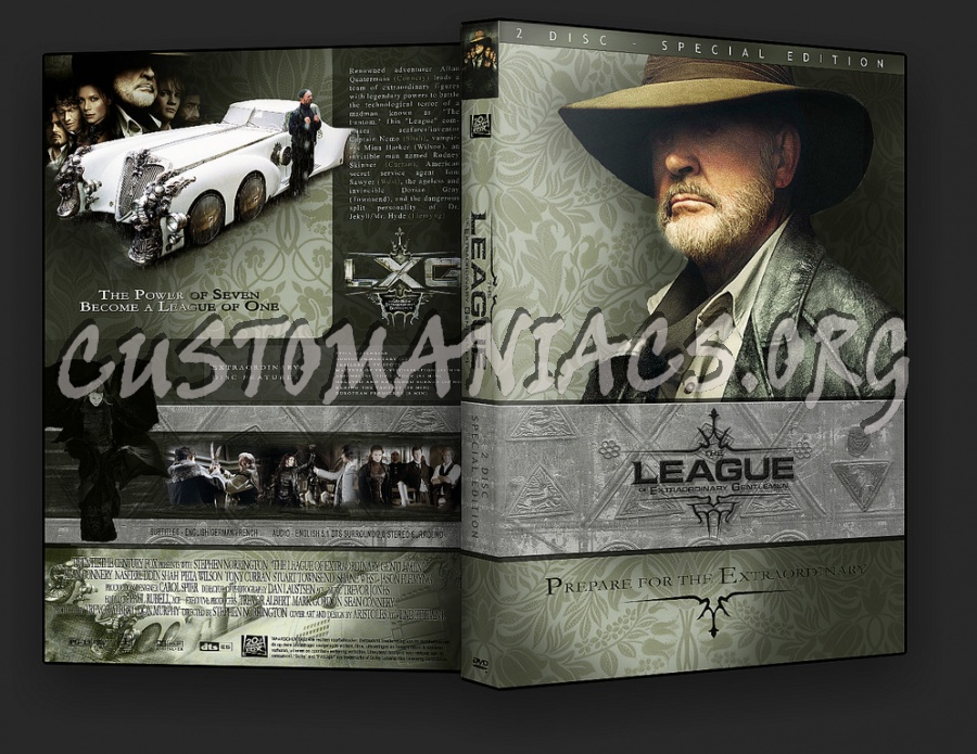 The League Of Extraordinary Gentlemen dvd cover