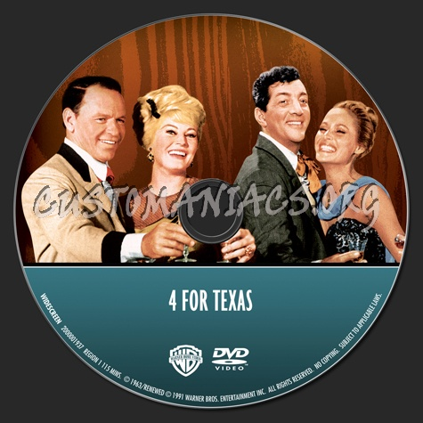 Frank Sinatra Collection: 4 For Texas dvd label