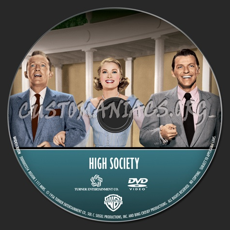 Frank Sinatra Collection: High Society dvd label