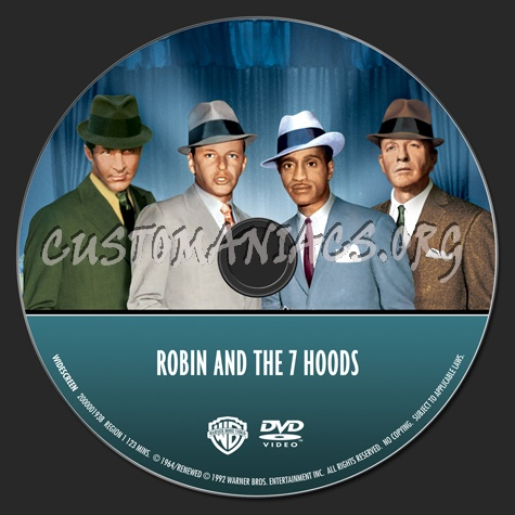 Frank Sinatra Collection: Robin and the 7 Hoods dvd label