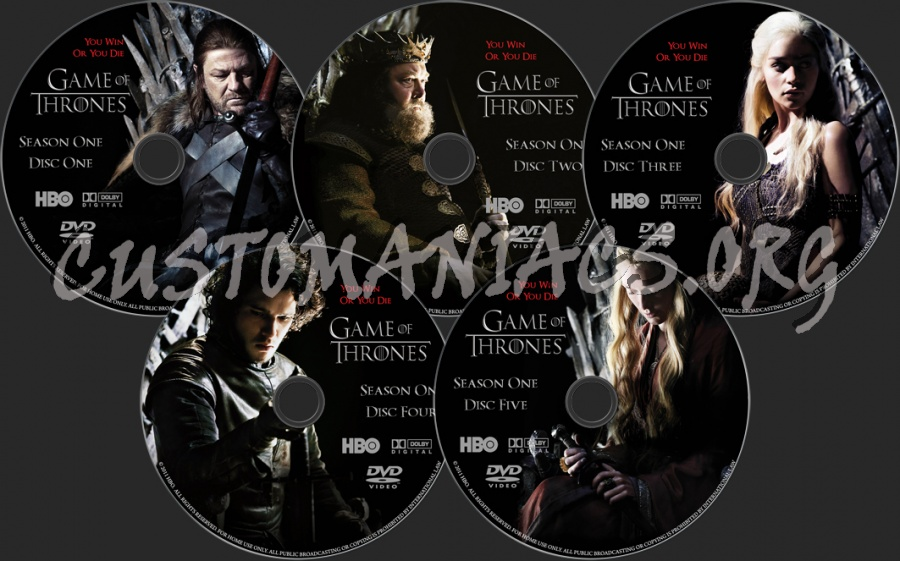 Game Of Trone Season 1 Dvd Cover: Game Of Thrones Season 1 Dvd Label